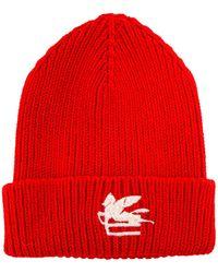 Etro Wool Hat - Red