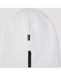 Stone Island Shadow Project Beanie Hat - White