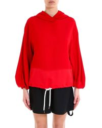 8pm Chastain Drawstring Waisted Hoodie - Red