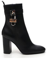 Givenchy 4g Logo Padlock Boots - Black
