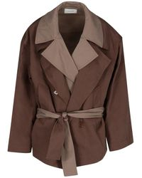 Lemaire Layered Trench Blouson Jacket - Brown
