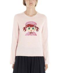 Comme des Garçons Wool Jumper - Pink