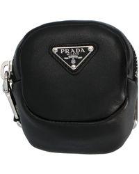 Prada Logo Plaque Arm Pouch - Black