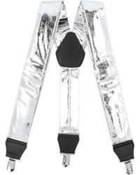 Comme des Garçons Clip On Suspenders - Only One Size / Silver - Metallic