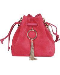 Jimmy Choo Callie Drawstring Bucket Bag - Pink