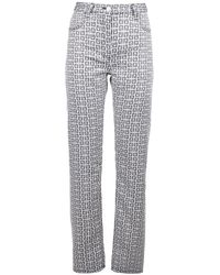 Givenchy 4g Jacquard Jeans - Multicolor