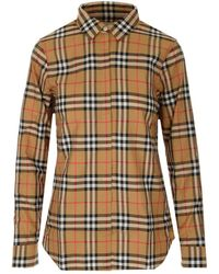 Burberry Vintage Check Oversized Shirt - Natural