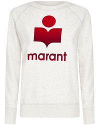 Étoile Isabel Marant Logo Print Crewneck Sweatshirt - Natural