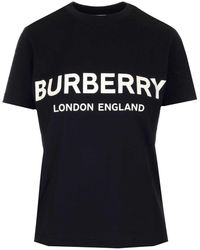 Burberry Logo T Shirt - Black