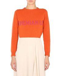 Alberta Ferretti Bohemian Life Crewneck Sweater - Orange