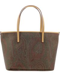 "Etro ""paisley"" Shopping Bag - Brown"
