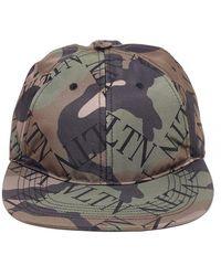 Valentino Camouflage Logo Print Baseball Cap - Multicolor