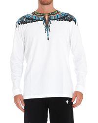 Marcelo Burlon Wings Print Long-sleeve T-shirt - White