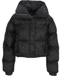 MISBHV Signature Monogram Puffer Jacket - Black