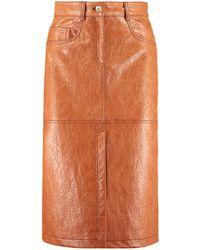 MSGM Stretch Pencil Skirt - Brown
