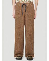 Eckhaus Latta Pinstripe Jersey Pants - Brown