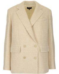 Theory Piazza Tweed Jacket - White