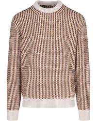 Ermenegildo Zegna Patterned Knit Sweater - Multicolour