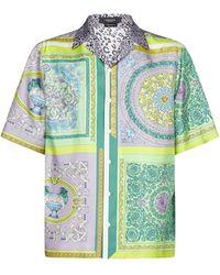Versace Barocco Mosaic Print Short-sleeve Shirt - Multicolour