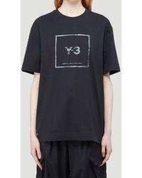 Y-3 Reflective Logo Printed T-shirt - Black