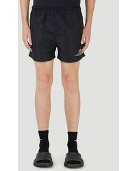 Balenciaga Embroidered Swim Shorts - Black