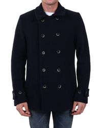 Barena Double-breasted Peacoat - Blue