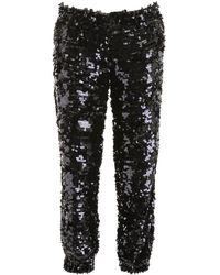 MSGM Sequins Trousers - Black