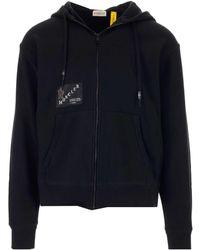 Moncler Genius Moncler X Fragment Hiroshi Fujiwara Logo Patched Hooded Jacket - Black