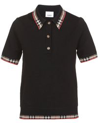 Burberry T-shirts And Polos Black