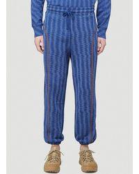 Eckhaus Latta Weave Print Track Pants - Blue