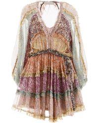 Zimmermann Carnaby Frill Dress - Multicolour
