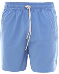 Polo Ralph Lauren Logo Patch Swim Shorts - Blue