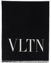 Valentino Garavani Vltn Knit Scarf - Black