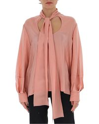 Chloé Pussybow Blouse - Pink