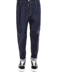 DSquared² - High-waisted Tapered Baggy Jeans - Lyst