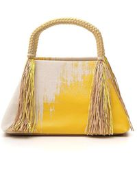 Issey Miyake Tassle Tote Bag - Yellow