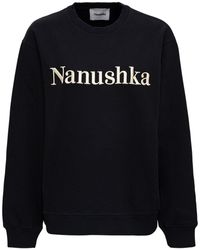 Nanushka Remy Logo Embroidered Sweatshirt - Black