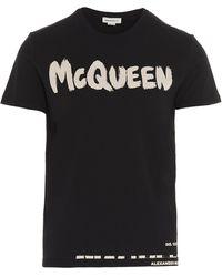 Alexander McQueen Graffiti T-shirt - Black