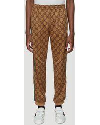 Gucci GG Stripe Sweatpants - Brown