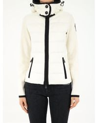 3 MONCLER GRENOBLE - Logo Patch Hooded Cardigan - Lyst