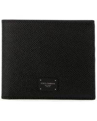 Dolce & Gabbana Logo Bifold Wallet - Black