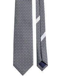 Ferragamo Gancini Print Tie - Blue