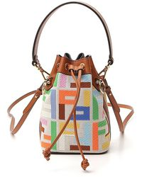 Fendi Mini Mon Tresor Bucket Bag - Multicolour