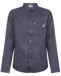 Dior Homme X Kaws Bee Denim Shirt - Blue