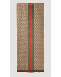 Gucci Male Brown 80% Wool, 20% Silk. Dry Clean. - Multicolour
