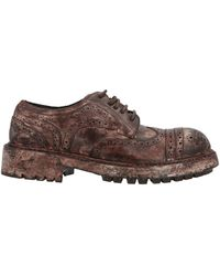 Dolce & Gabbana Distressed Brogue Shoes - Brown