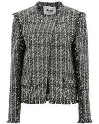 MSGM Tweed Jacket - Multicolour