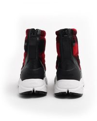 Woolrich Red And Black Artic Boots