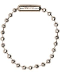Ambush Logo Ball Chain Bracelet - Metallic
