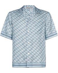 Dior Dior Oblique Pixel Hawaiian Shirt - Blue